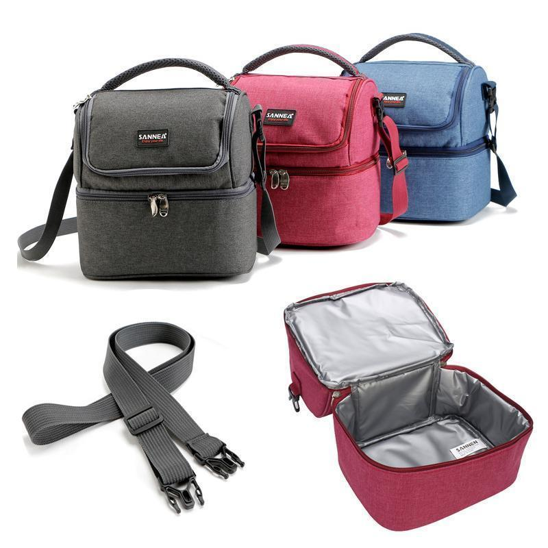 Insulated Double Decker Lunch Bag