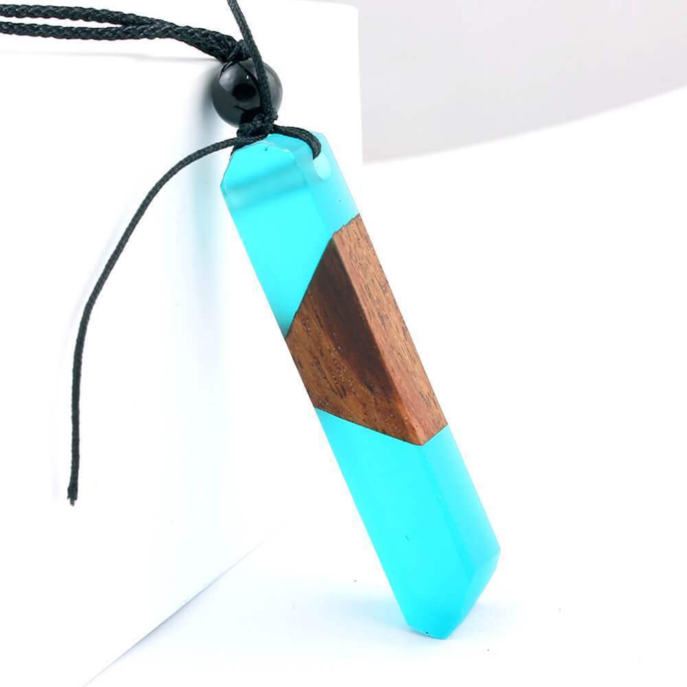 Wood Resin Necklace Pendant