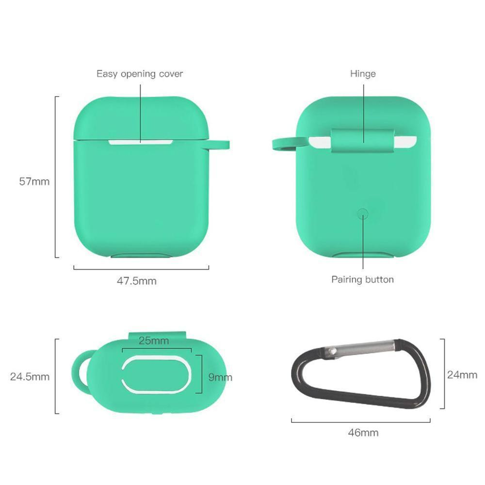 Shockproof Protective Premium Silicone Cover Skin for AirPods Charging Case