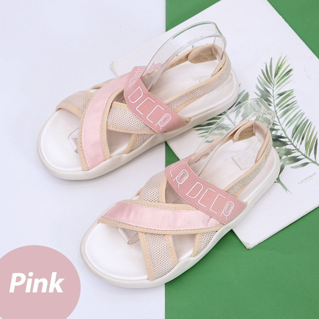 Peep Toe Comfortable Sport Casual Flat Sandals