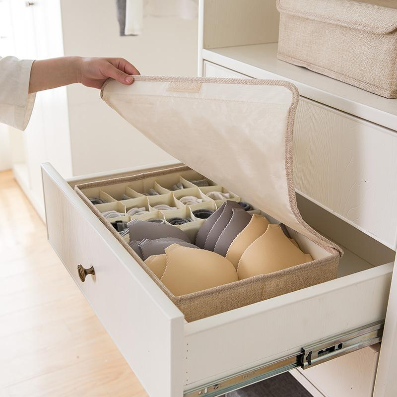 Linen Underwear Storage Box