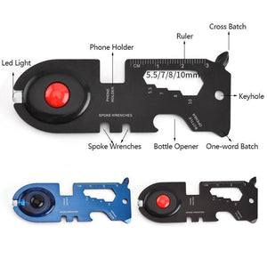 Round Head Multi-tool Card with Led