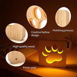 Load image into Gallery viewer, House Decor LED Wooden Lamp