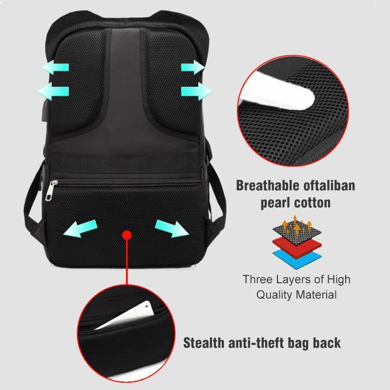 Outdoor sports luminous waterproof Anti-theft backpack