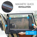 Load image into Gallery viewer, Car Side Window Magnetic Sunshade Curtains (2 PCs)