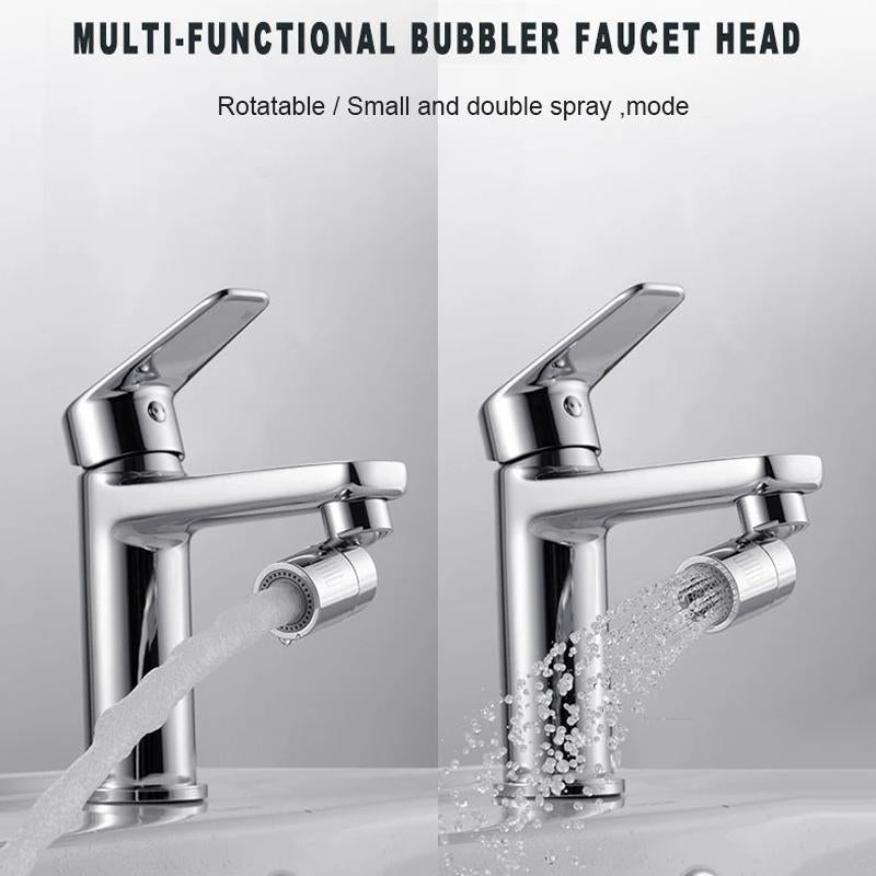 Rotatable Dual-Function Bubbler Faucet Head