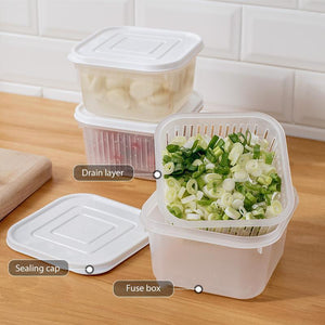 Transparent Double-layer Sealed Storage Box