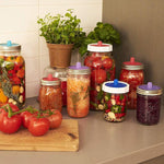 Load image into Gallery viewer, Silicone Sealing Covers for Mason Jar (6 PCs)