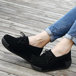 Load image into Gallery viewer, Women  Genuine Leather  Flats Platform Shoes
