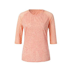 Lace Stitching Round Neck Cropped T-Shirt