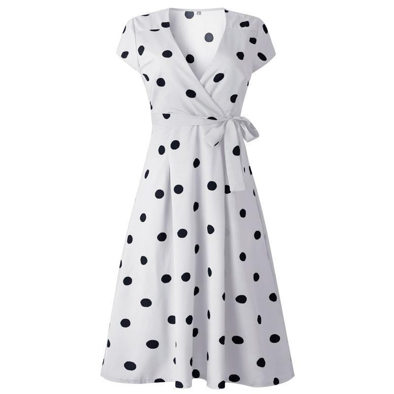 Lady Fashionable Dotted Dress