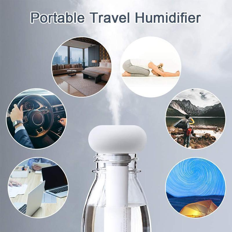 Portable Mini Water Bottle Caps Humidifier