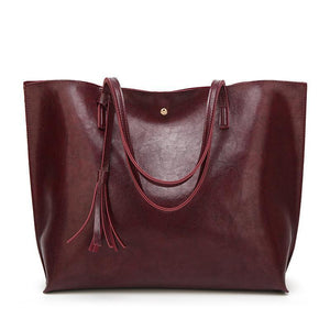 Fashionable Tasseled Shoulder Bag