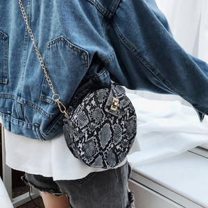 Newest Hot Fashion Snake Skin Printed Messenger Bag