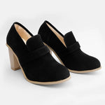 Load image into Gallery viewer, Women Fall Ankle Boots Middle Heel Shoes