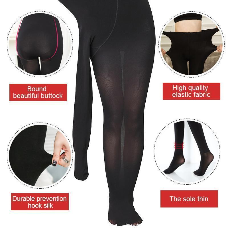 Ladies Slimming stockings opaque tights plus size