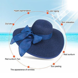 Summer Beach Wide Brim Sun Hats, UPF 50+