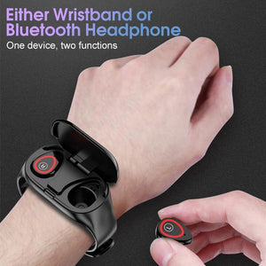 M1 SMART WATCH combine wristband and earbuds (2 in 1 device)
