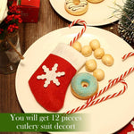 Load image into Gallery viewer, Mini Christmas Stockings Knife Spoon Fork Bag