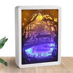 Load image into Gallery viewer, 3D Light and Shadow Night Lamp Paper Carving Art