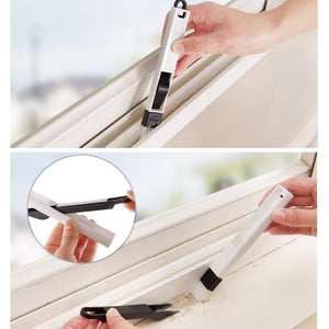 Hand-held Tools Window Track Cleaning Brushes with Dustpan - 3 Sets