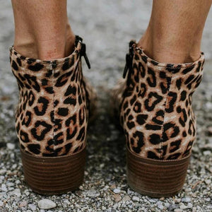 Women Fashion Zipper Booties