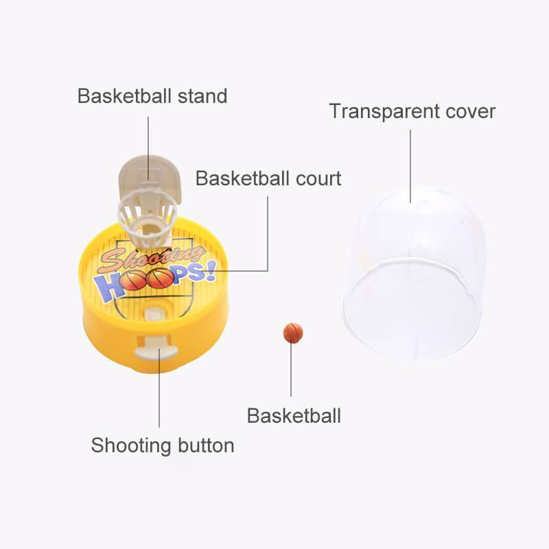 Mini Handheld Basketball Shooting Game Ball Toys(Random Color)