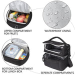 Load image into Gallery viewer, Insulated Double Decker Lunch Bag