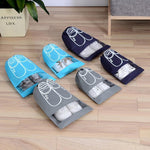 Load image into Gallery viewer, Travel Shoe Storage Drawstring Bags (6 PCs)