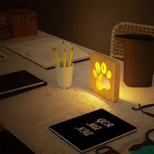 House Decor LED Wooden Lamp