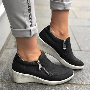 Women Sleeve travel shoes wedge heel casual