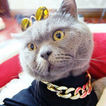 Load image into Gallery viewer, Thick Gold Chain Pets Safety Collar