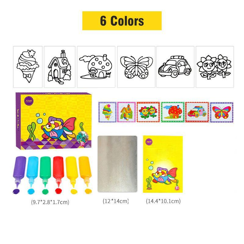 DIY Drawing Toys Cartoon Glue Tempera Painting