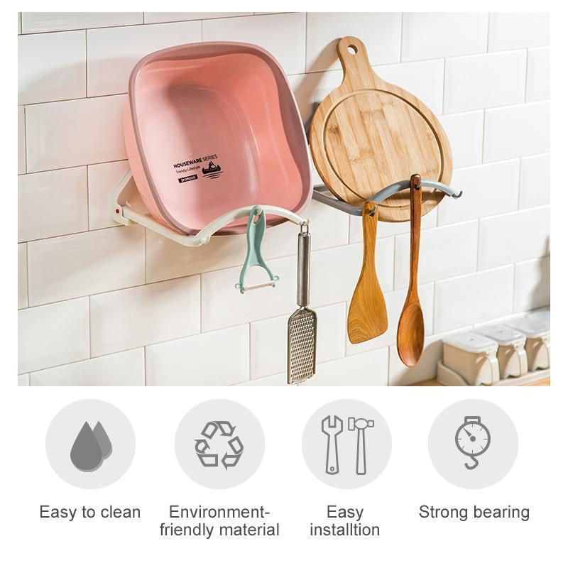 Punch-free Bathroom Suction Cup Basin Stand