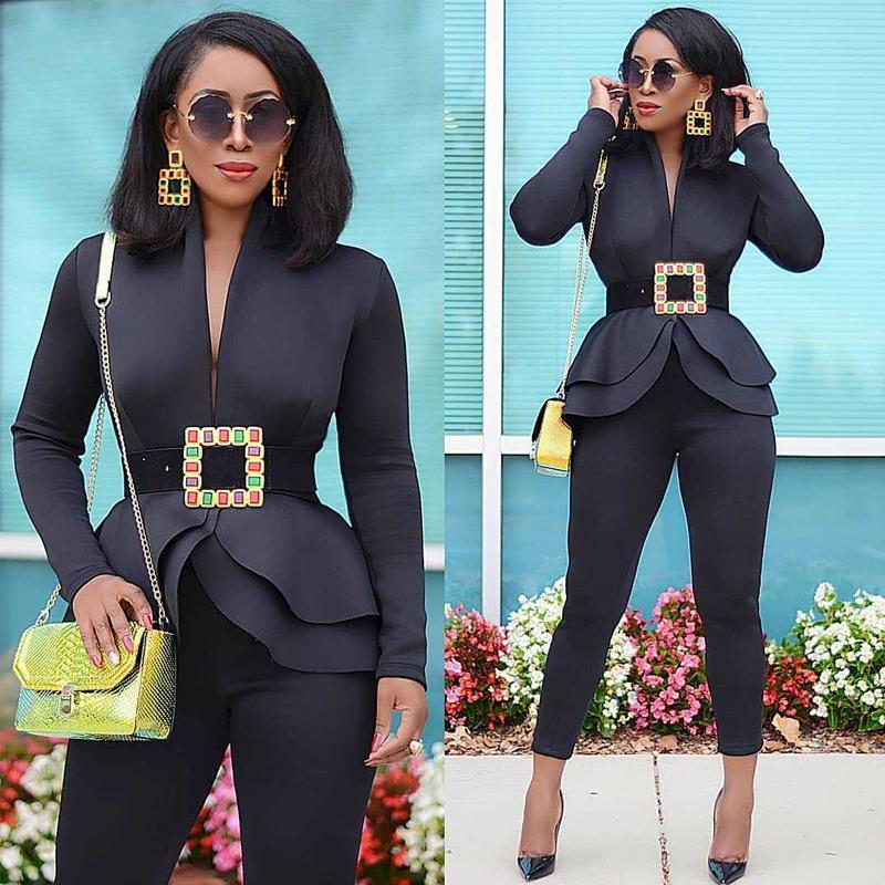 Fashion Ruffle Casual Suits