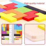 Load image into Gallery viewer, Tangram Jigsaw Intelligence Colorful 3D Russian Blocks Game