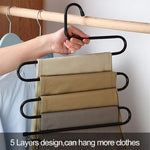 Load image into Gallery viewer, S-Shape Stainless Steel Clothes Hangers