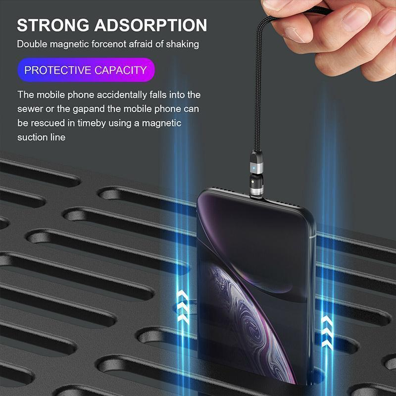 3-IN-1 DESIGN 360° Magnetic Cable
