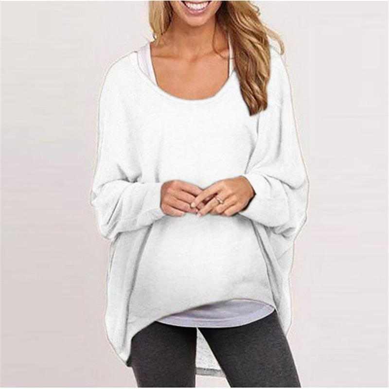 Loose Pullover Solid Color T-Shirt