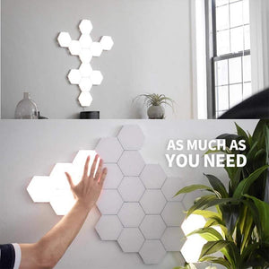 Hexagonal Wall Lamp Creative Geometry Assembly