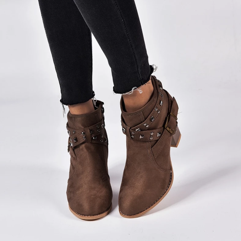 Women Round Toe Ankle Boots