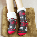 Load image into Gallery viewer, Thermal Fleece Slipper Socks