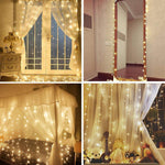 Load image into Gallery viewer, Twinkle Star 300 LED Window Curtain String Light