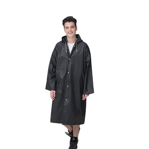 Unisex Reusable Portable Frosted Raincoat