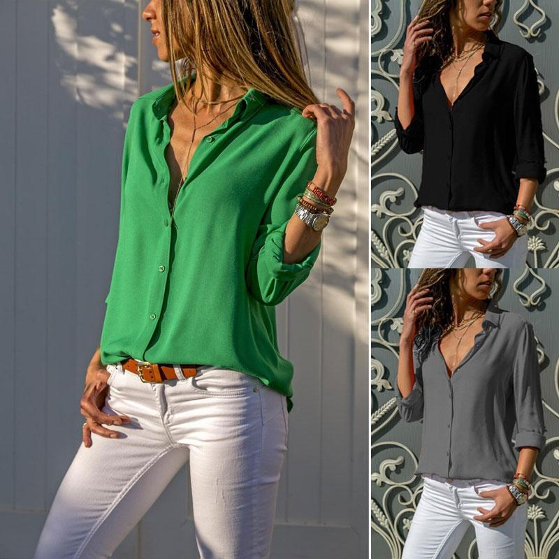 Ladies Casual Chiffon Solid T-Shirt