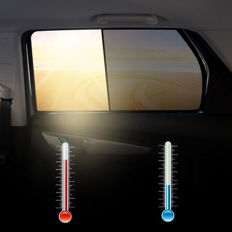 Car Side Window Magnetic Sunshade Curtains (2 PCs)