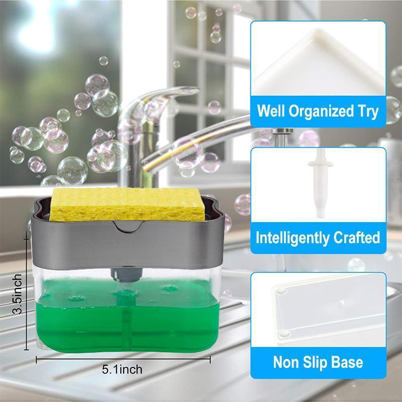 Soap Dispenser and Sponge Caddy