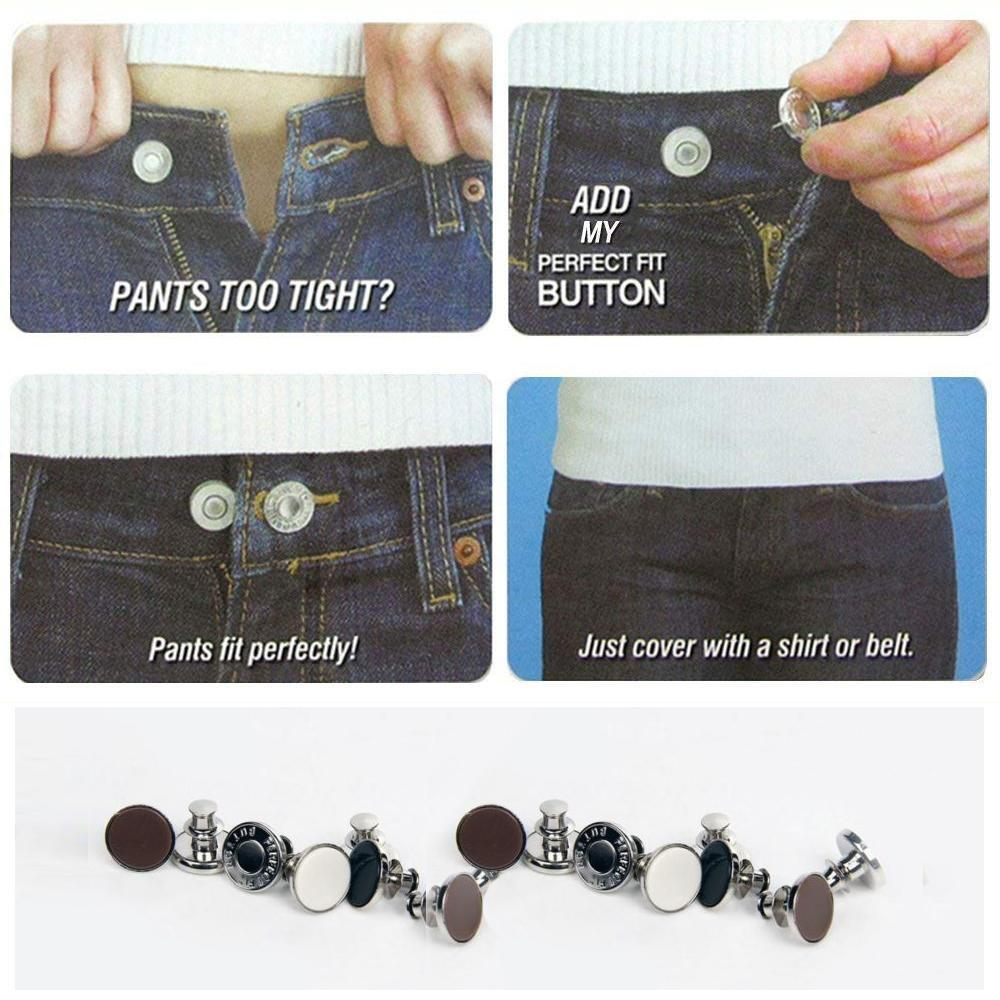 Hirundo No Sew Jean Button Replacement and Extender