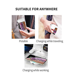 Portable charger with magnetic head for iPhone / Android / Type-C