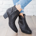 Load image into Gallery viewer, Women Thick Heel Platform Boots